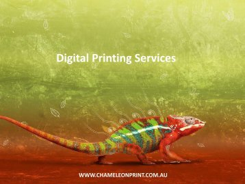 Digital Printing Services - Chameleon Print Group