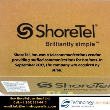 ShoreTel User Email List