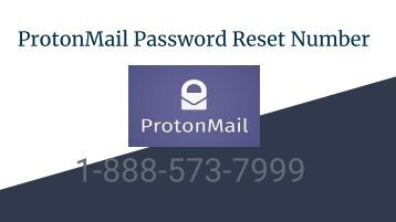 ProtonMail Password Reset Number
