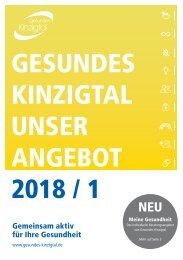 Gesundes Kinzigtal: Unser Angebot 2018 / 1