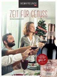 Weinfreunde Weihnachtsselektion 2017