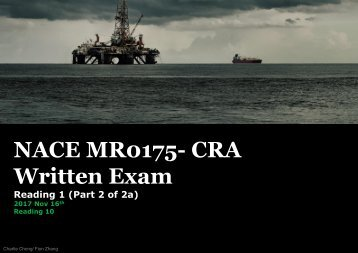 NACE MR0175 CRA Exam- Reading 1 (Part 2 0f 2a)