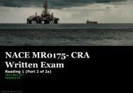 NACE MR0175 CRA Exam- Reading 1 (Part 2 0f 2a)