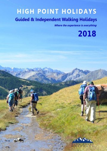 High Point Holidays Walking Holidays Brochure 2018