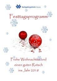 Programmheft Weihnachten