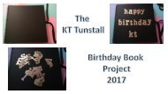 KT Birthday Book Project