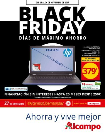 ALCAMPO Folleto Black Friday hasta 26 de  Noviembre 2017