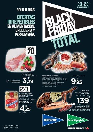 El Corte Inglés  Supermercado BLACK FRIDAY TOTAL hasta 26 de Noviembre 2017