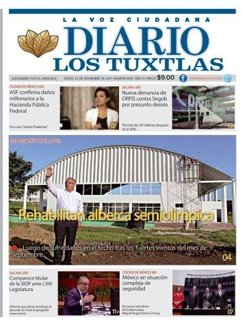 edición de diario los tuxtlas del día 23 de noviembre de 2017