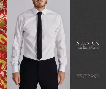 Mens Shirts and Scarves City Collection Lookbook by Staunton Moods