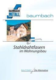 Stahldrahtfasern - Baumbach Metall GmbH