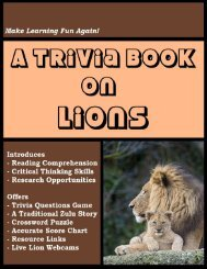A Trivia Book on Lions