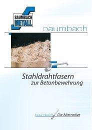 Stahldrahtfasern zur Betonbewehrung - Baumbach Metall GmbH