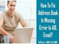 18002430019 |How To Fix AOL Address Book Missing Error?
