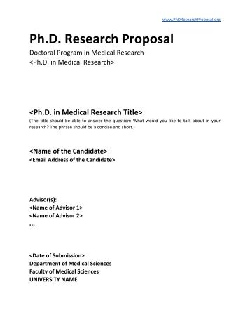 Quality research proposal
