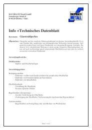 Info +Technisches Datenblatt - Baumbach Metall GmbH