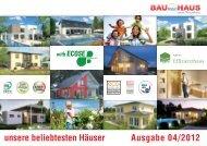 Unsere beliebtesten Häuser - Katalog - Bau mein Haus