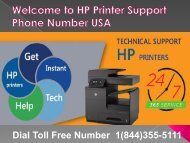 1(844)355-5111 HP Printer Support Phone Number