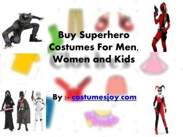 Buy Superhero Costumes For Men, Women and Kids