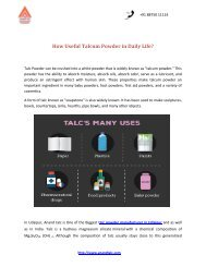 How Useful Talcum Powder in Daily Life