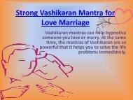 Strong Vashikaran Mantra for Love Marriage