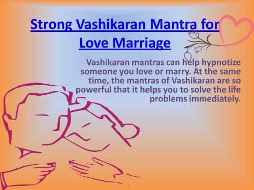Strong Vashikaran Mantra for Love Marriage