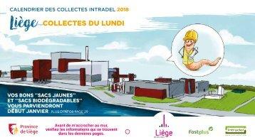 Calendrier des collectes des déchets lundi - 2018