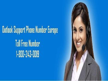 18002430019 Outlook Technical Support Number  Europe