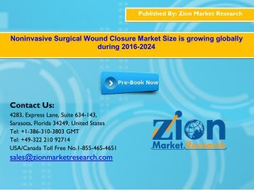 Global Noninvasive Surgical Wound Closure Market, 2016–2024