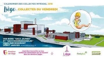 Calendrier des collectes des déchets vendredi - 2018