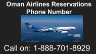 Oman Airlines Reservations Phone Number 1-888-701-8929