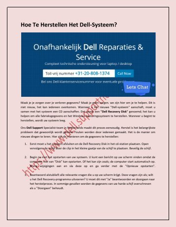 Hoe Te Herstellen Het Dell-Systeem?