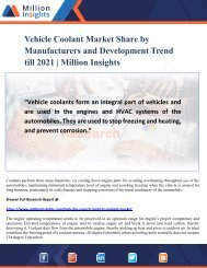 Vehicle Coolant Market - Global Industry Insights, Trends and Growth Opportunity Analysis to 2021