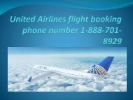 United Airlines flight booking phone number 1-888-701-8929