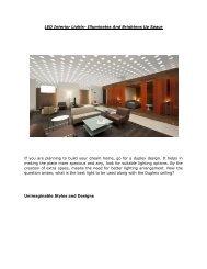 LED Interior Lights- Illuminates And Brightens Up Space