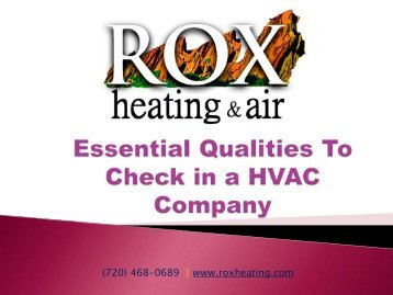 Essential Qualities to Check in a HVAC Company