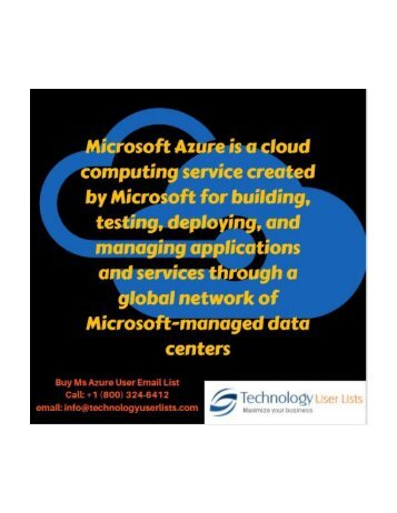 Ms Azure User Email List