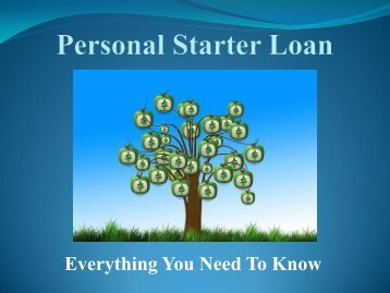 Personal Starter Loan