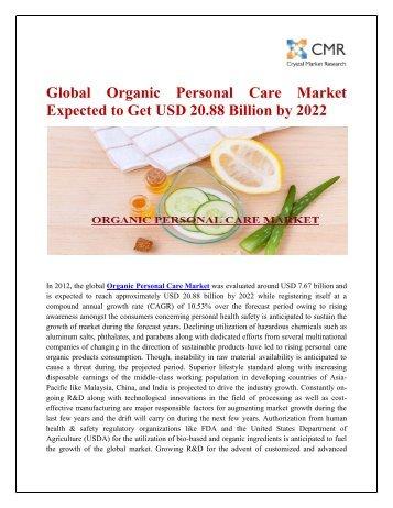 ORGANIC PERSONAL CARE MARKET