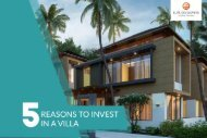 5 Reasons to invest in a villa