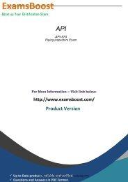 API-570 Exam Software