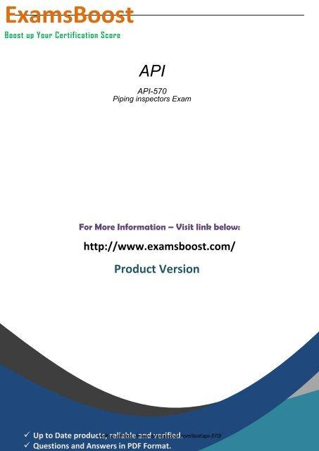 API 570 Exam Software