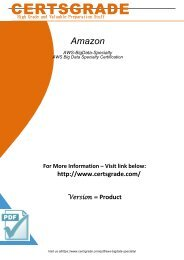 AWS-BigData-Specialty Exam Practice Software