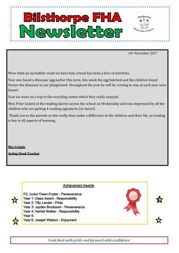 BFHA - Newsletter 9 24.11.17