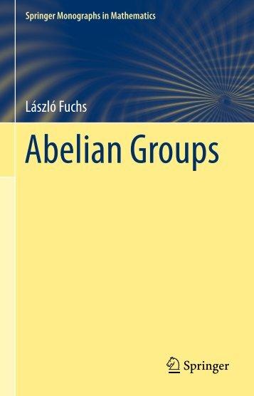 Abelian Groups - László Fuchs [Springer]