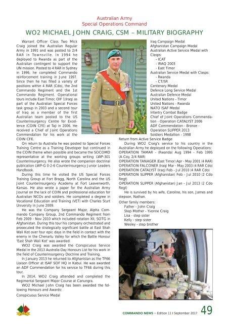 Commando News Spring17