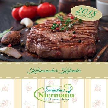 Landgasthaus Niermann - Kulinarischer Kalender 2018 1. Halbjahr