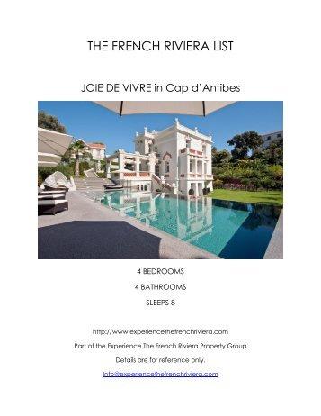 Joie de Vivre - Cap d'Antibes