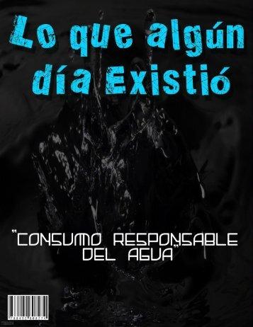 """LO QUE ALGÚN DÍA EXISTIÓ-""""Consumo responsable del agua"""""""