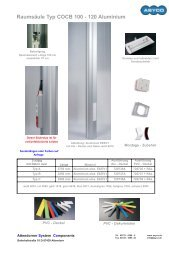 Raumsäule Typ COCB 100 - 120 Aluminium